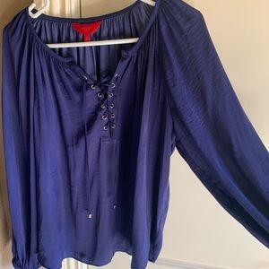 Purple silk blouse